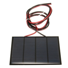 New Arrival 12V 1.5W 100MAh Polycrystalline Silicon Solar Panel Module Mini Solar Cells Battery Phone Charger With Welding Wire