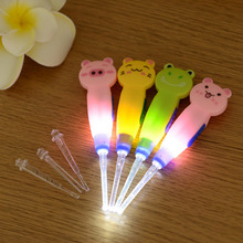2 Pcs Pig Shape Flashlight Earpick Wax Cleaner Remover Cleanser Ear Pick LED Light cartoon ear spoon Ear care(China)