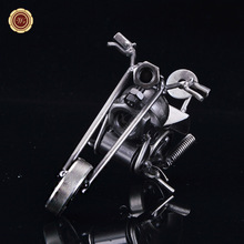 WR Vintage Metal Motorcycle Model Classic Motorbike Figurine Retro Motor Bicycle Ornament Kid Toy Home Office Decor