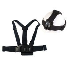 New GP59 Elastic Adjustable Head Strap Mount Belt and Chest Belt Mount Kit For Sports camera Series Action Camera Accessories