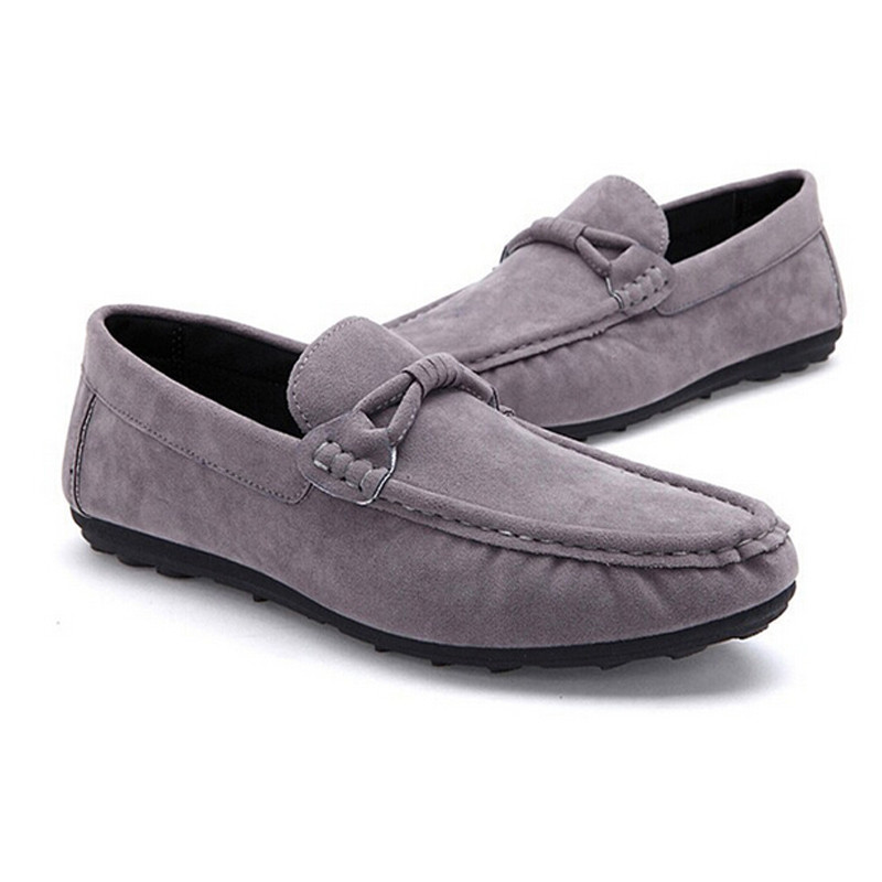 Size 39-44 Artificial Suede Men Flats Shoes Soft  Breathable Mesh Loafers Slip on Classical Moccasins Non-Slip Driving Shoes<br><br>Aliexpress
