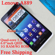 Original Lenovo A889 MTK6582 Quad-core Android 4.2 Multi-language 8.0MP Camera 3G WCDMA Dual-SIM 6 inchinch 1G RAM/8GB ROM FreeGift - Chinatronic Store store