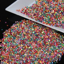 10g Color Rainbow Effect Bright Nail Glitter Powder Dust Nail Women DIY Fingernail Cellphone Decoration Manicure  WY12