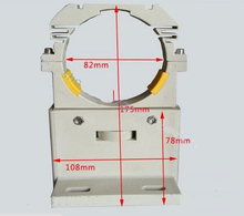 Plastic Laser Tube Mount Support for Laser Tube 80mm diameter 80w 100w 120w 150W LASER TUBE bracket(China)