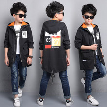2017 new children's clothing spring boy jacket children's windbreaker in the long section of the big boy Korean shirt boy spring(China)