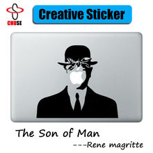 "Rene Magritte The Son of Man Laptop Sticker for Apple MacBook Decal 11"" 12"" 13"" 15 inch Mac Decoration Art Skin Sticker"