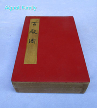"Collection Chinese Classic Old calligraphy painting ,Famous painter Lang Shining ""100 Horse "" Book painting"