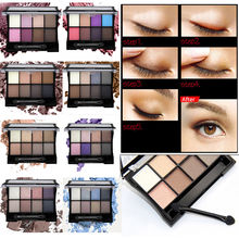 YANQINA  8 Colors Art Mineral Magic Eye Shadow Pearl Matte Eyeshadow Palette Smoky Makeup