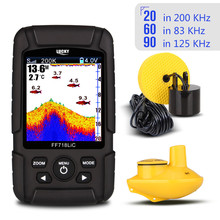 "LUCKY FF718LiCD 2.8"" Color LCD Portable Fish Finder 200KHz/83KHz Dual Sonar Frequency 328ft/100m Detection Depth Finder(China)"