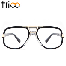 TRIOO Square Designer Eyewear Accessories Black Frame Clear Lens Glasses Frame For Men Cool Fashion Computer Eyeglasses Oculos