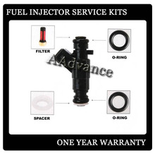 Mercedes Fuel Injector Repair Rebuild Service Kit Orings Filters Caps Lower Ring Retainers Upper Viton O-rings(China)