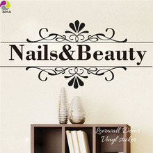 Nail Beauty Quote Wall Sticker Barber Shop Nail Art Design Manicure Salon Wall Decal Vinyl Durable Easy Removable Home Decor(China)