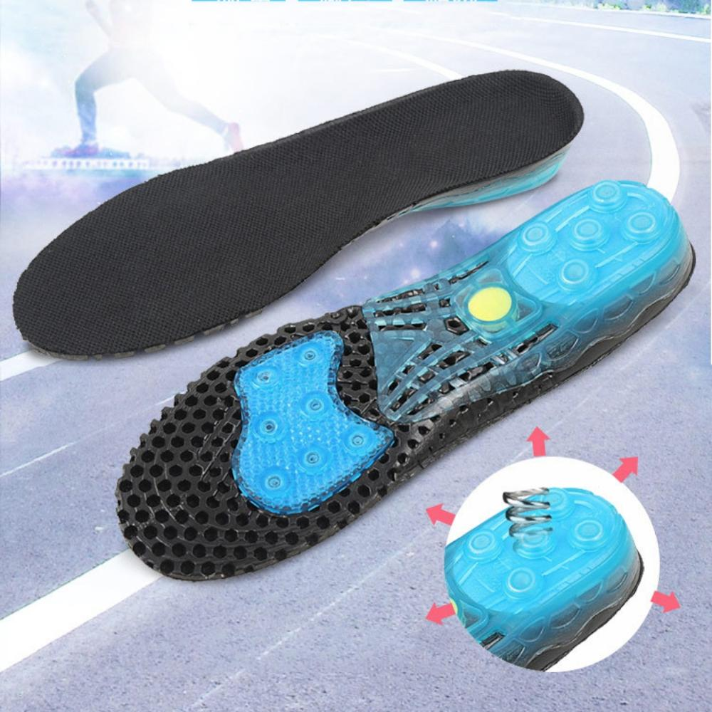 Spring Loaded Shoe Inserts Insoles Men Women Arch Support Shock Absorbers G