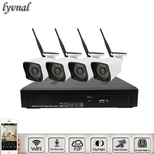 LYVNAL audio wifi system 4pcs wifi camera audio SONY 1080p with 9CH nvr kit two way audio 1080p 3MP 5mp CCTV SYSTEM WIFI KIT(China)