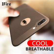 heat dissipation phone cases for iphone 6 6s plus case hard Back PC Full Protect Cover for iPhone 7 Plus Cover plastic shell(China)