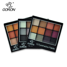 12 Color Eyeshadow Palette Eye Shadow Easy To Wear Shimmer Smoky Eyes Make up Palette Set Womens Cosmetics Factory Price F2020