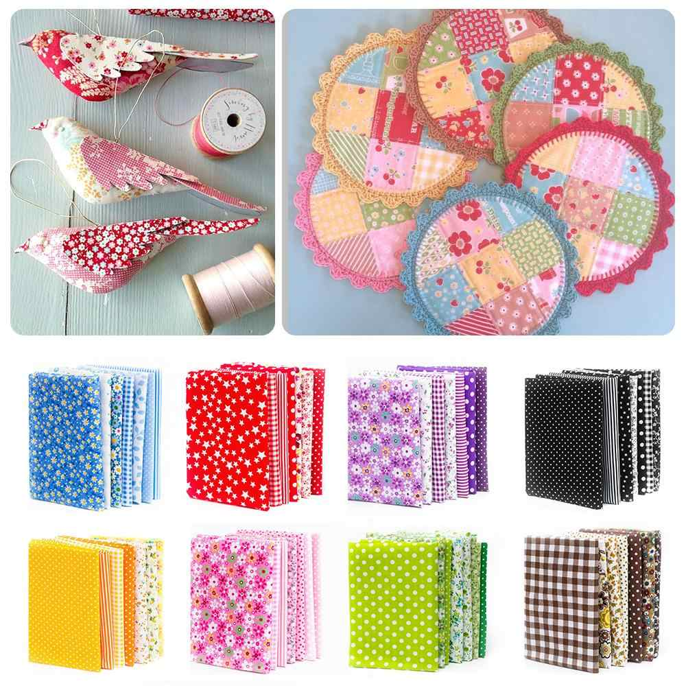 7Pcs Cotton Fabric Squares Bundle Diy Squares Quilt Pre-Cut Patchwork Sewing