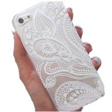 MONSUNX Futural Digital  Hot Selling Fashion Henna White Floral Flower Plastic Case Cover Skin for iPhone 5 5S SE AP21
