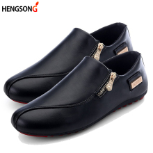 Buy Men Flats Shoes White Casual Platform Pointed Shoes PU Leather Shoes Male Loafers Men Flats Breathable Plus Size 39-45 OR642675 for $11.11 in AliExpress store