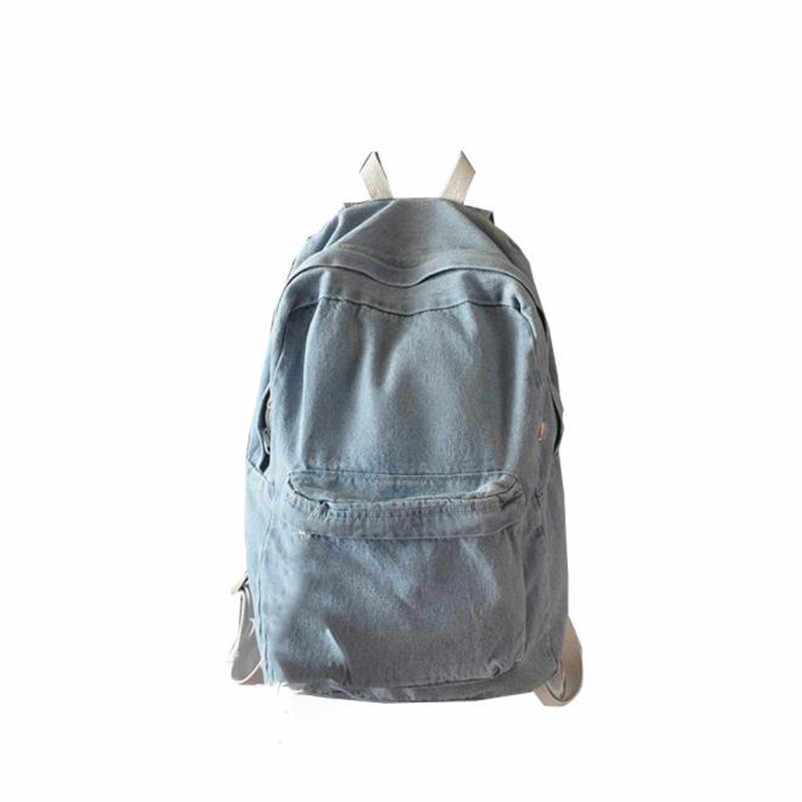 8035393713c 2018 Hot Retro Travel Schoolbag Women School Backpack Bags Denim Jeans  Backpack Teenage Backpacks For Girls