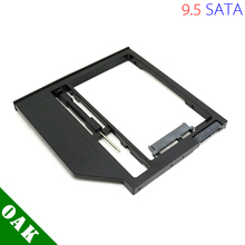 [Free DHL] New Plastic Universal 9.5mm SATA to SATA Second HDD Caddy Enclosure for Laptop 2.5inch Hard Disk Black Color - 100pcs