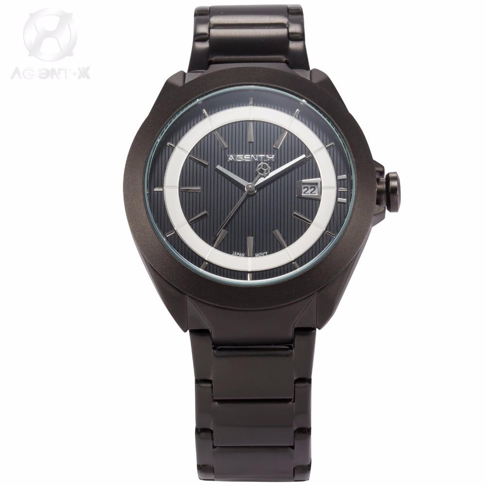 La Vitesse Fatale AGENTX Relogio Vintage Masculino Movement Analog Stainless Steel Black Dial Wrist Quartz Mens Watch / AGX059<br>