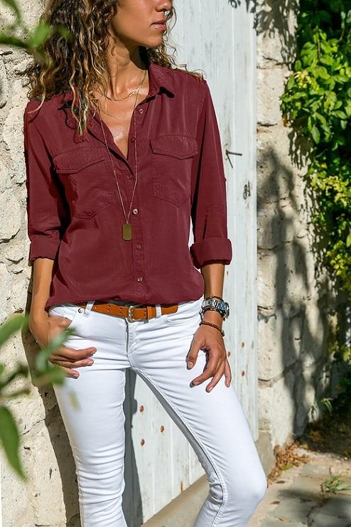 office blouse women plus size 5XL long sleeve blusas mujer de moda 2018 tallas grandes spring autumn shirt top women blouse1