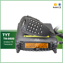 Cross Band Repeat 50W Scrambler VHF UHF TYT TH-9800 Plus CB Mobile Radio+Programming Cable and Software(China)