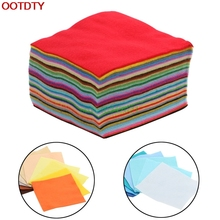 40PCS Rainbow Colorful Soft Felt Sheets DIY Craft Polyester Fabric 15x15cm(China)