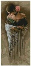 Высочайшее Качество Красивые Прекрасный Счетный Крест Kit Испанский Леди Женщина Девушка с Цветком лука-s лука(China)