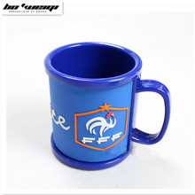 BOWEIQI Hot sale World Cup France football team logo cup Soccer fans  Gargle cup Drink water Environmental plastics  Mug  gift