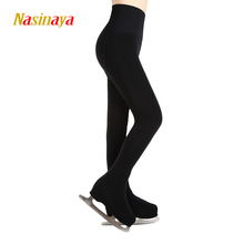 High Waist Ice Skating Trousers Figure Skating Pants Thermal Pantynose Pantyhose With Shoes Cover Child Free Size Thick(China)