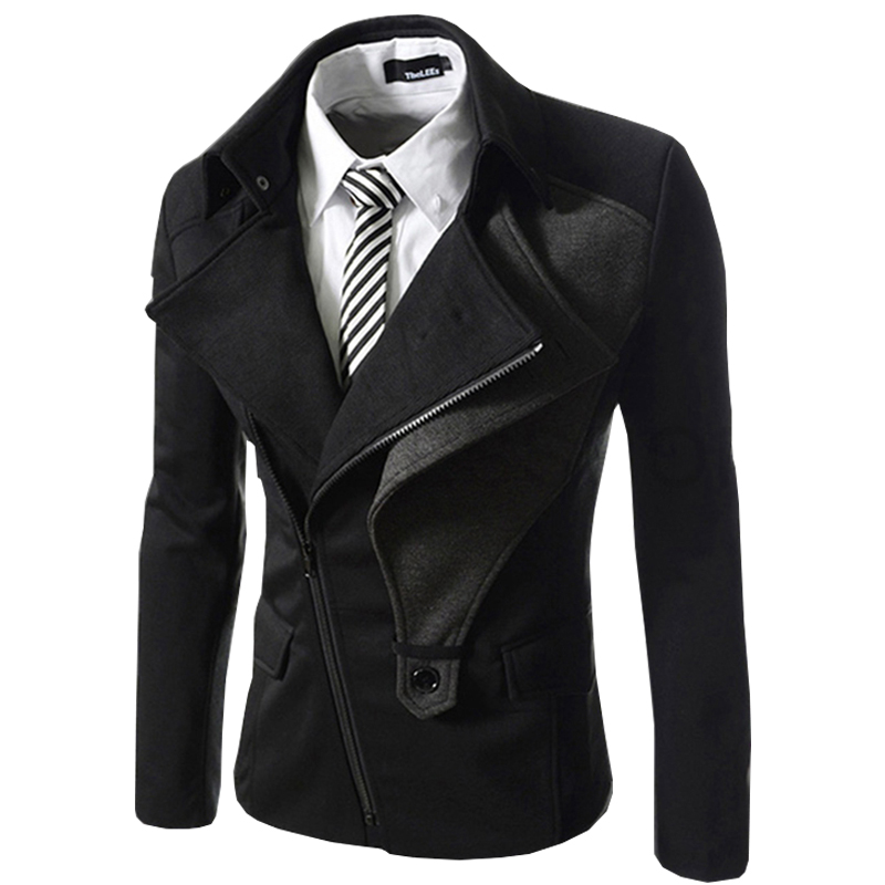 2017 New Arrivl Short Trench Coat Jacket Autumn Winter Jacket Coat Fashion Casual Mens Breasted Outerwear Coats