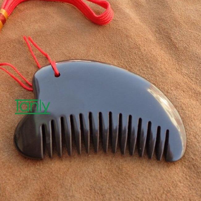 5A grade Original Si Bin Bian stone massage guasha kit multifuntion beauty face comb about 95x65x11mm<br>