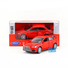 Free Shipping/WELLY Toy/Diecast Model/1:36 Scale/MITSUBISHI LANCER EVOLUTION X/Pull Back Car/Educational Collection/Gift/Kid(China)