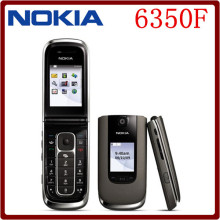 6350F Original Nokia 6350 Flip MP3 GSM 3G Unlocked GPRS Cell Phone One year warranty Free Shipping English and chinese langauge(China)