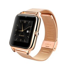 Gold Z50 Smart Watch Phone Bluetooth GSM NFC G-sensor Camera 1 SIM Pedometer Sedentary Reminder Call SMS Sync For Smart phone