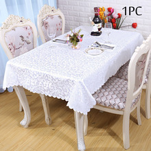 Wedding Outlet 1PC Polyester Jacquard Damask Table Cloths Multi Color Home Table Cover for Dining Hotel Event Table Decoration