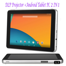 D07 DLP Projector 16GB Tablet PC Android WiFi  2000:1 Contrast Ratio 8 Inches Touch Screen 3600mAh Battery Multimedia Player