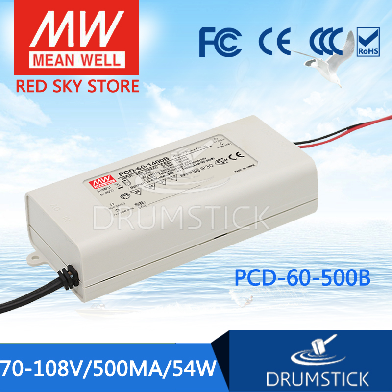 MEAN WELL PCD-60-500B 108V 500mA meanwell PCD-60 108V 54W Single Output LED Switching Power Supply<br>