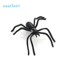 1 Pair Simple Black Spider Punk Unisex Funny Stud Earring Wholesale Good QualityWomen Couple Jewelry(China)