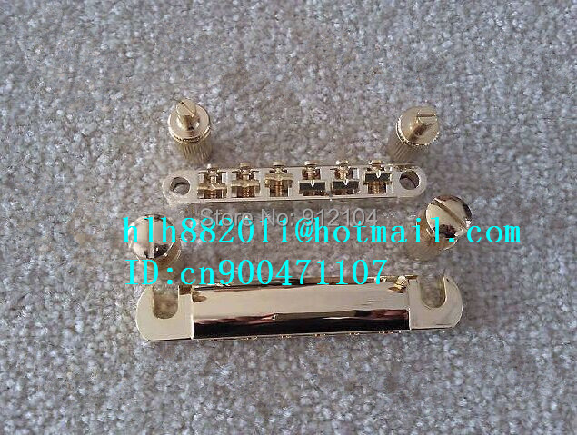 free shipping new  strings electric guitar bridge in gold made in China 8205-2<br>