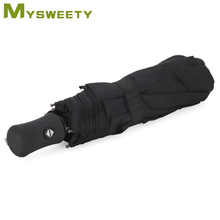 Windproof Umbrella - Auto Open / Close - Stylish Black Design for Women / Men.