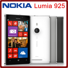 Unlocked Original Nokia Lumia 925 mobile phones 16GB 8MP camera Dual core 4.5 inch touch screen in stock Freeshipping