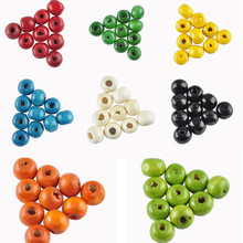 LNRRABC New! High Quality! 7MM 280 pcs/lot Mix Color Handmade/DIY Round Wooden Beads for jewelry making