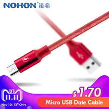 NOHON Micro USB Charging&Sync Data Cable Fast Charge Samsung S6 S7 Xiaomi Redmi Note 4 4X Phone Short Charger Cord 0.25/1/3M