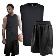 Mens Cheap Throwback Basketball Jersey Sweat Youth Basketball Clothes Shirt Shorts Breathable Basket-ball Training Sport Jerseys(China)