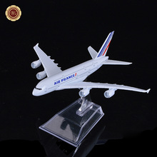 Home Office Decor France Boeing 747 Airplane Metal Aircraft Model Kit Aeroplane Model Educational Toys