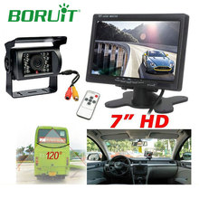 "Boruit 7"" TFT LCD Car Monitor IR LED Reversing Night Vision Rearview Camera Wireless DVR Camera Recorder Kit For Truck DC 9-35V"