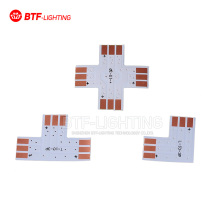 10PCS~1000PCS  3PIN corner Connector 10mm T/L/X PCB shape solderless connector For WS2812 WS2811 Pixel led strip light